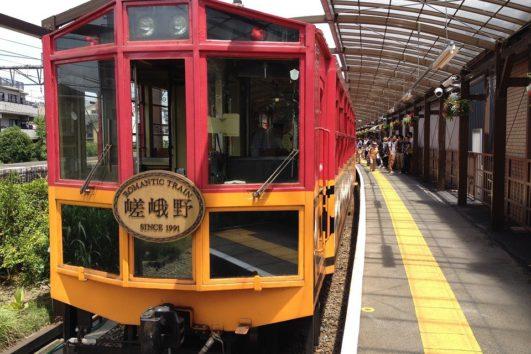 京都嵐山小火車